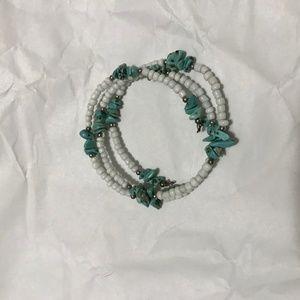Jewelry - 5/$15 vtg costume jewelry blue wrap bracelet